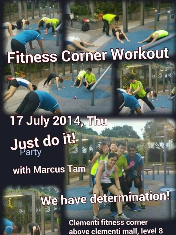 Fitness corner workout