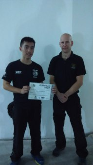 Krav Maga workshop by IKMF in 2015. Anti-kidnapping and 3rd party protection. Photo with GIT Israel Tamir (Head of Security and Law Enforcement Division)