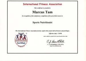 Sports nutritionist Marcus Tam