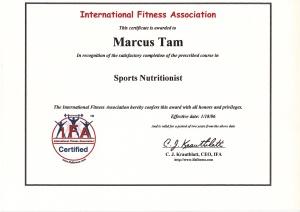 Sports nutritionist Marcus Tam