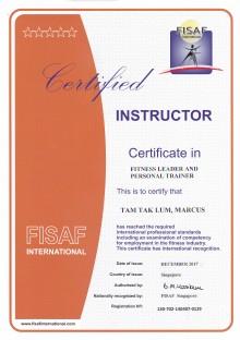 FISAF Certified PT Marcus Tam