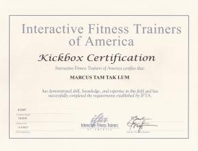 IFTA Kickboxing Marcus Tam 2018