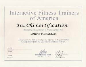 IFTA Tai Chi Marcus Tam 2018