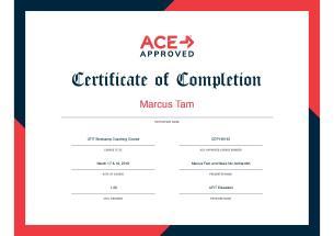 UFIT Bootcamp cert Marcus Tam 2018